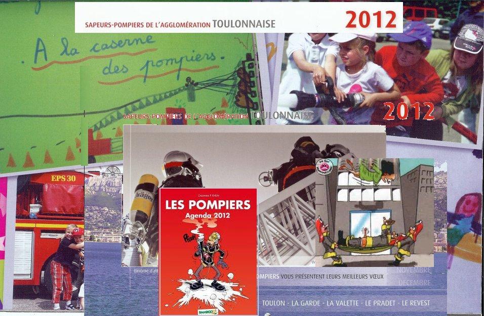POMPIERS calendriers dans 2012