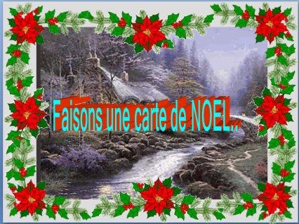 Calendrier de l'Avent 18e jour Faisons une carte postale dans 2012 clic-ici