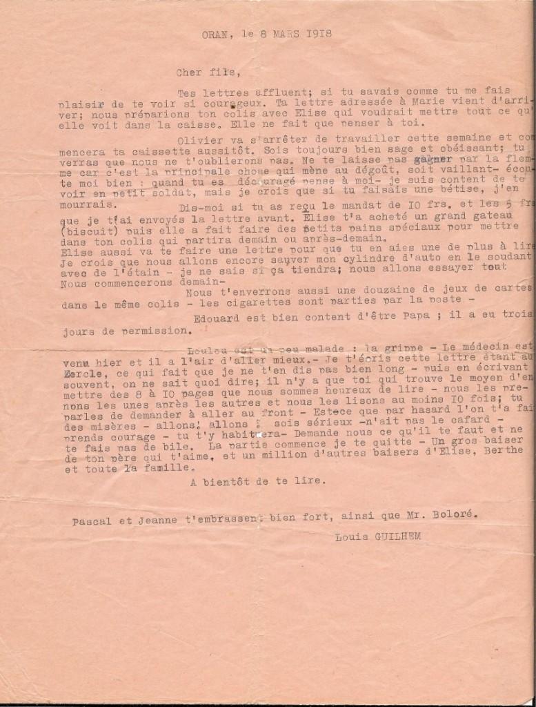 1918.03.08-lettre-de-grand-pere-a-son-1er-fils-rene guerre de 14-18