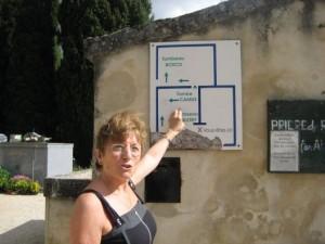 Visite du cimetière de Lourmarin
